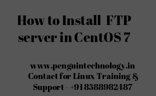 How to install FTP server in CentOS 7